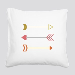 Cupids Arrows Square Canvas Pillow