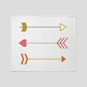 Cupids Arrows Throw Blanket