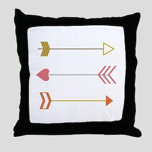Cupids Arrows Throw Pillow