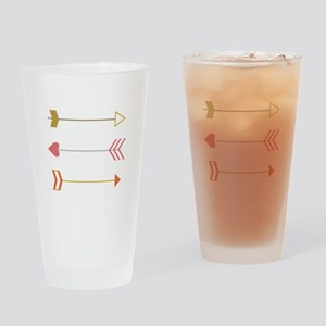 Cupids Arrows Drinking Glass