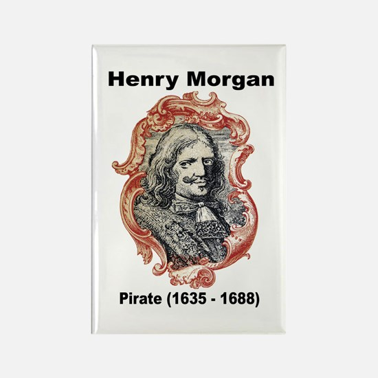 Henry Morgan Pirate Rectangle Magnet