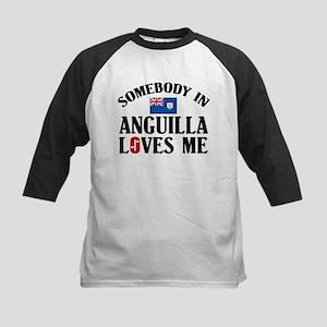 Somebody In Anguilla Kids Baseball Jersey