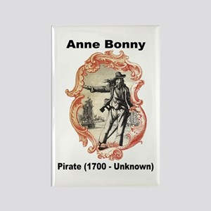 Anne Bonny Pirate Rectangle Magnet