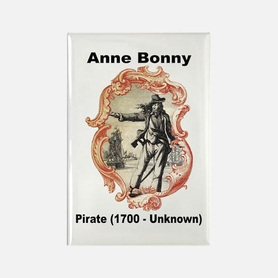 Anne Bonny Pirate Rectangle Magnet