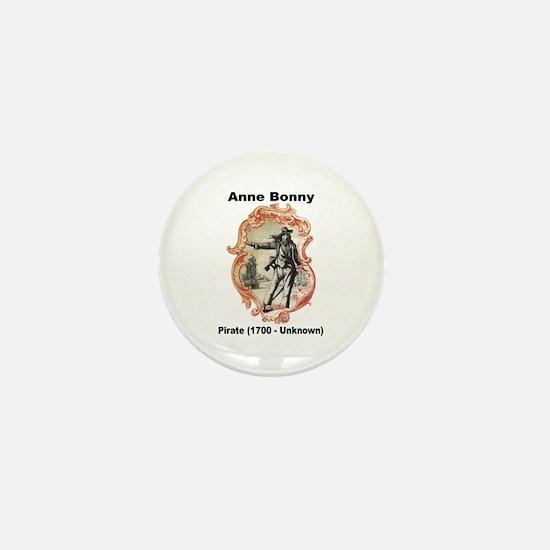 Anne Bonny Pirate Mini Button