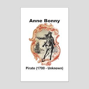Anne Bonny Pirate Mini Poster Print