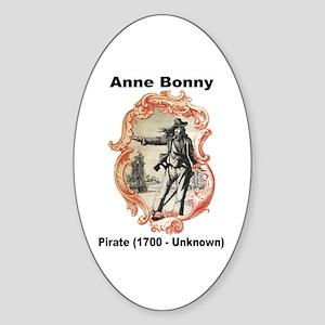 Anne Bonny Pirate Oval Sticker