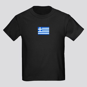 greece flag Kids Dark T-Shirt