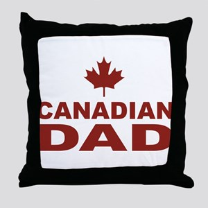 Canadian Dad Father's Day Throw Pillow