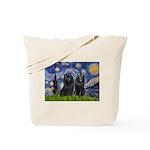 Starry Night & Schipperke Tote Bag