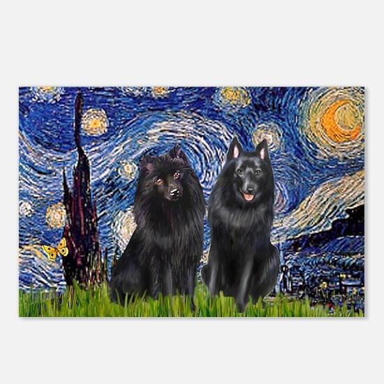 Starry Night & Schipperke Postcards (Package of 8)