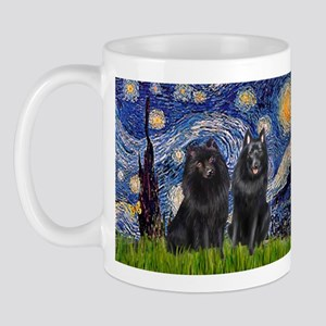 Starry Night & Schipperke Mug