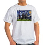 Starry Night & Schipperke Light T-Shirt