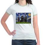 Starry Night & Schipperke Jr. Ringer T-Shirt