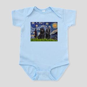 Starry Night & Schipperke Infant Bodysuit