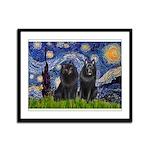 Starry Night & Schipperke Framed Panel Print