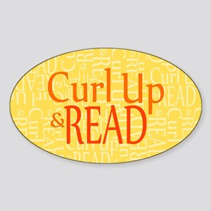 Curl Up and Read Yellow Sticker