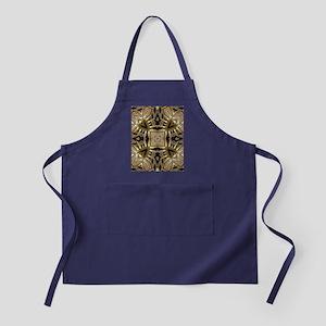Art Deco Black Gold Hearts Apron (dark)