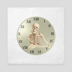 13 Hour Skeleton clock Queen Duvet