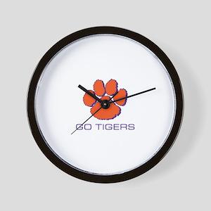 Go Tigers Wall Clock
