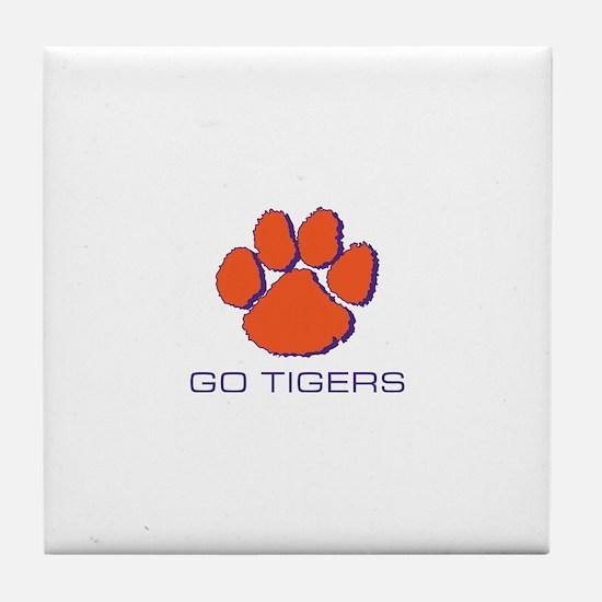 Go Tigers Tile Coaster