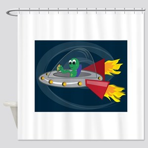 UFO Alien Shower Curtain