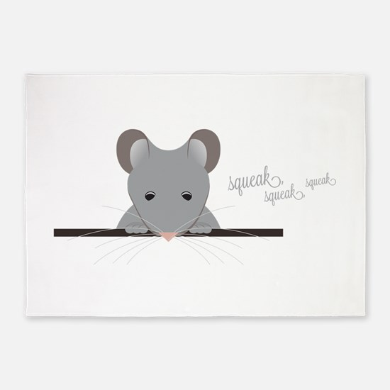 Mouse Squeak 5'x7'Area Rug