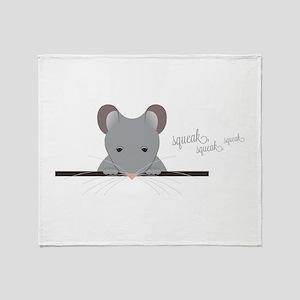 Mouse Squeak Throw Blanket