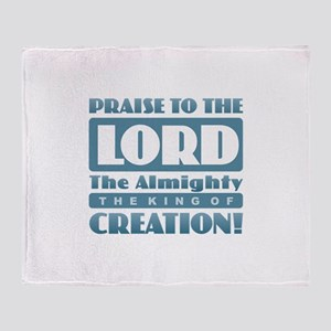 Praise the Lord Throw Blanket