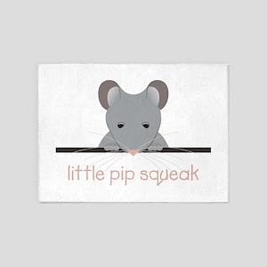 Little Pip Squeak 5'x7'Area Rug