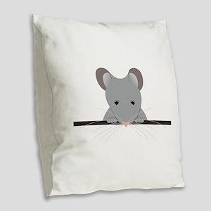 Pocket Mouse Burlap Throw Pillow