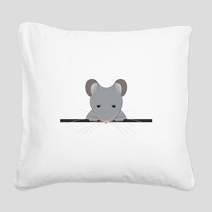 Pocket Mouse Square Canvas Pillow
