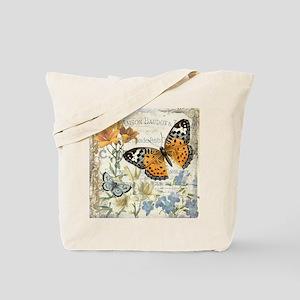 modern vintage butterfly Tote Bag