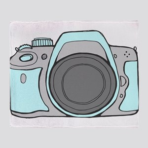 Mint Camera DSLR Throw Blanket