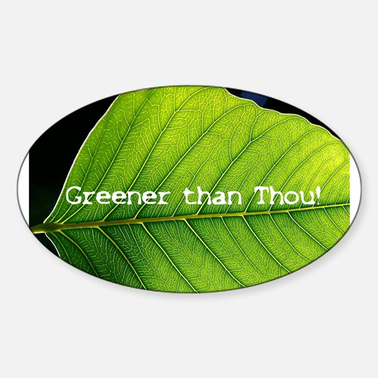 Funny Environmental protection Sticker (Oval)