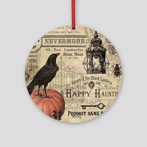 Modern vintage Halloween Ornament (Round)