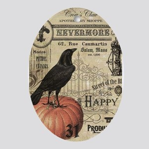 Modern vintage Halloween Ornament (Oval)