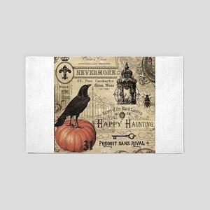 Modern vintage Halloween 3'x5' Area Rug