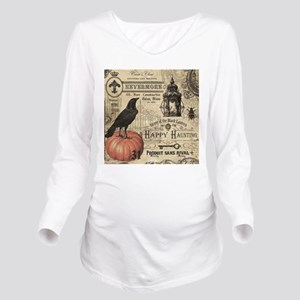 Modern vintage Halloween Long Sleeve Maternity T-S
