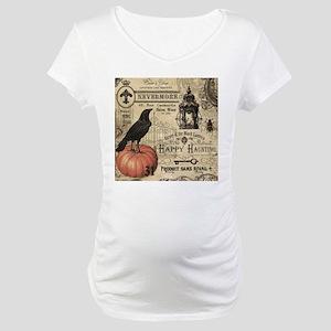 Modern vintage Halloween Maternity T-Shirt
