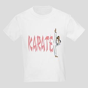 Karate (Pink) Kids Light T-Shirt