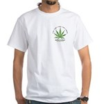 """""""Educate Yourself"""" White T-Shirt"""