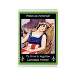 """Wake Up"" Hemp Rectangle Magnet"