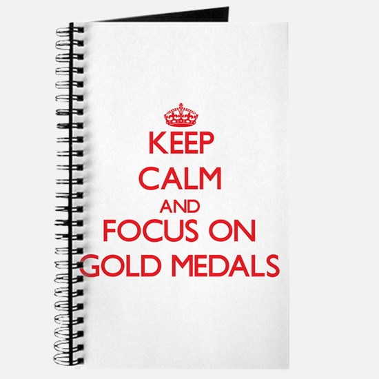 Cute Gold medal Journal