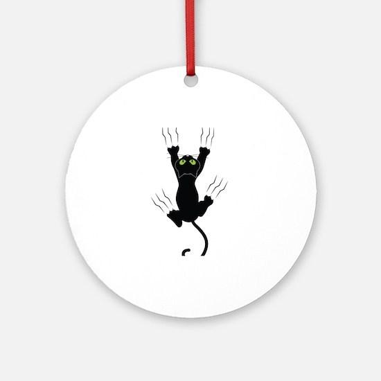 Cat Scratching Ornament (Round)
