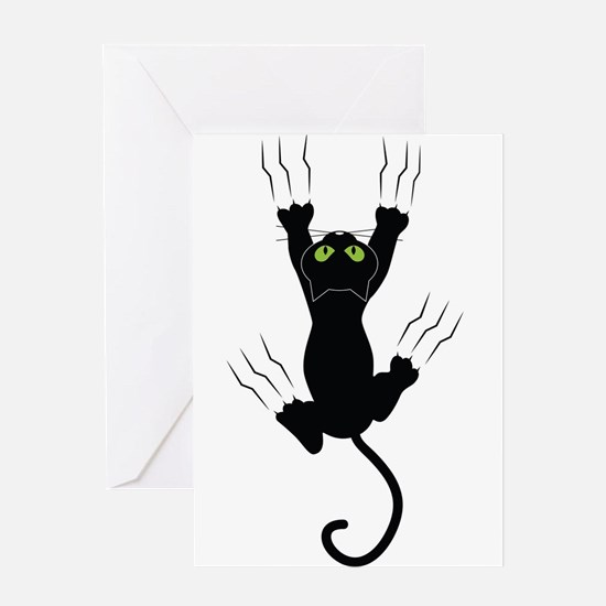 Cat Scratching Greeting Cards
