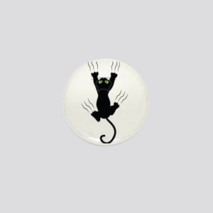 Cat Scratching Mini Button