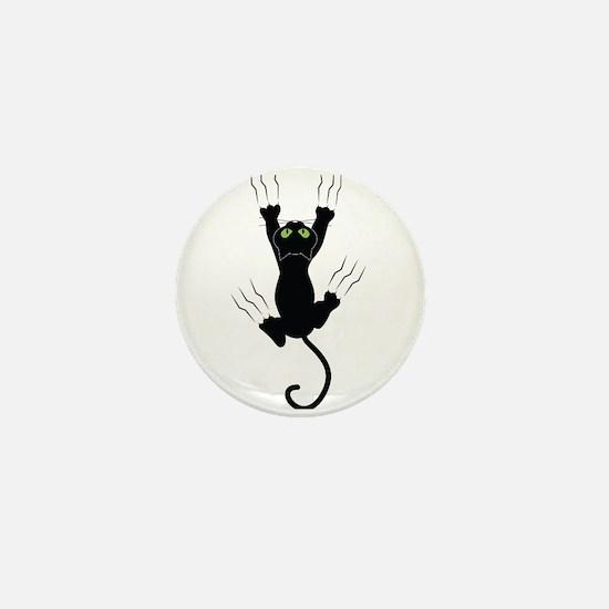 Cat Scratching Mini Button