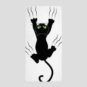 Cat Scratching Beach Towel