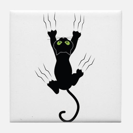 Cat Scratching Tile Coaster